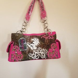 western camouflage conceal and carry purse